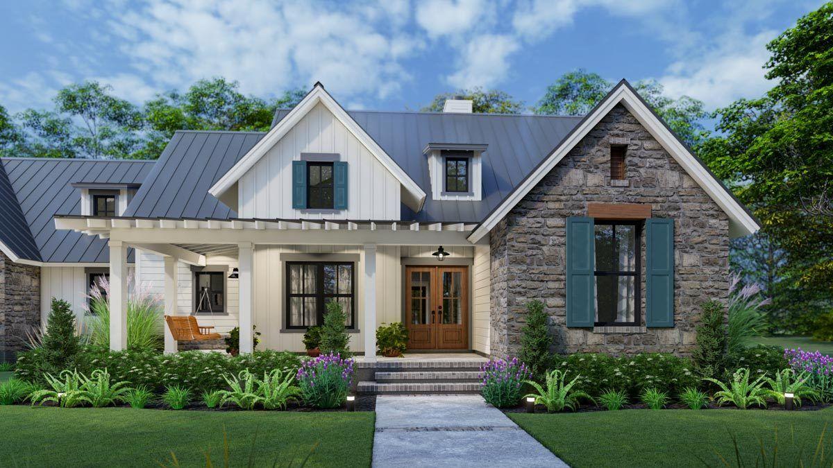 Plan 16917WG: Downsized 3-Bedroom New American Farmhouse ...