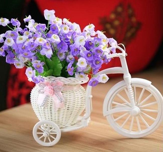 H10 Handmade Tricycle//Bike Shape Flower Basket for Flower Storage//Arrangement