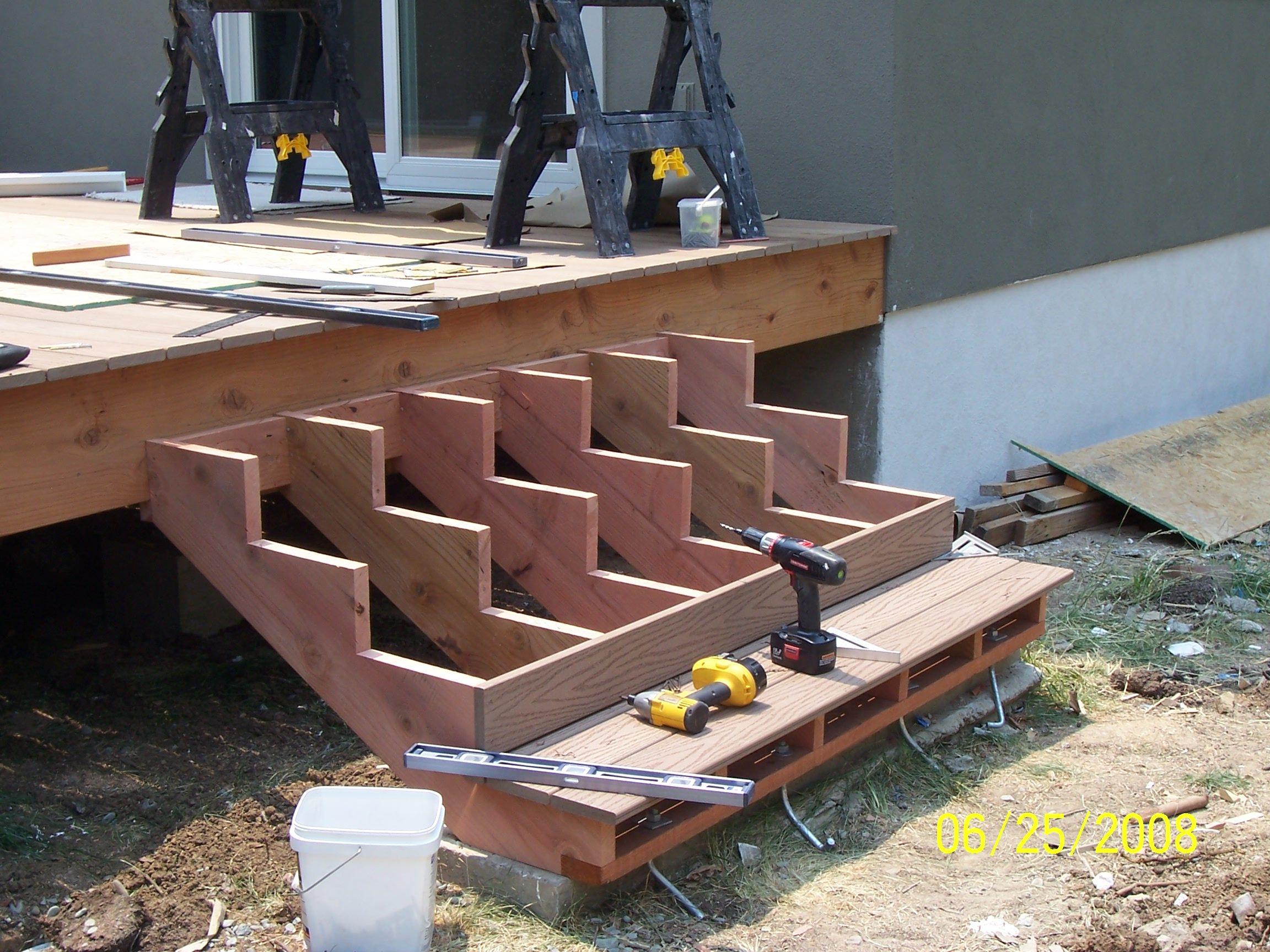 Best Deck Design Ideas Attaching Deck Stairs Deck Stairs   Making Steps For Decking