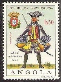 Stamp: Infantry Officer, 1777 (Angola) (Military Uniforms) Mi:AO 527,Sn:AO 515,Yt:AO 522,Afi:AO 504