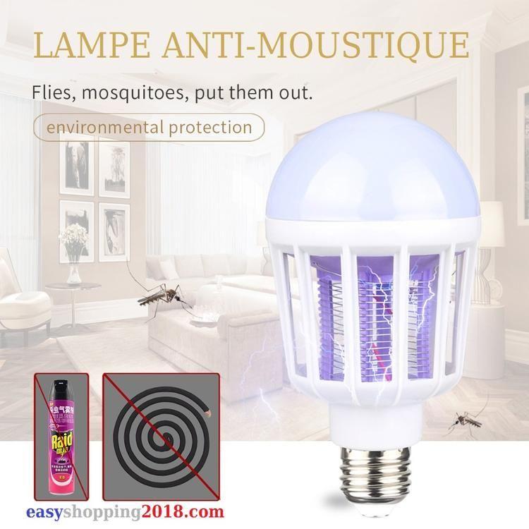 Ampoule Anti Moustique Culot E27 Facile A Installer Partout Ou