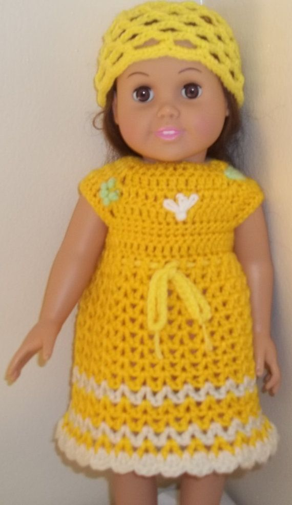 American Girl Doll Crochet Clothes For 18 Girl Doll Doll