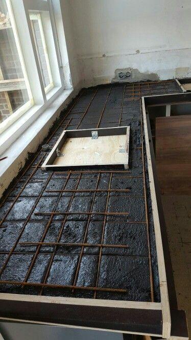 Machen Sie Eine Konkrete Arbeitsplatte Arbeitsplatte Kuche Beton Und Betonkuche