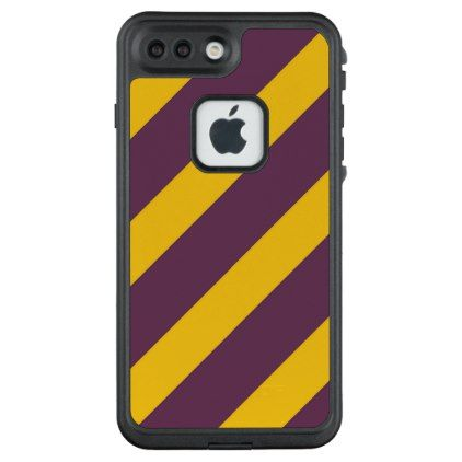 half off 1188a ab0ca Yellow And Purple Sripes LifeProof iPhone Case | Zazzle.com ...