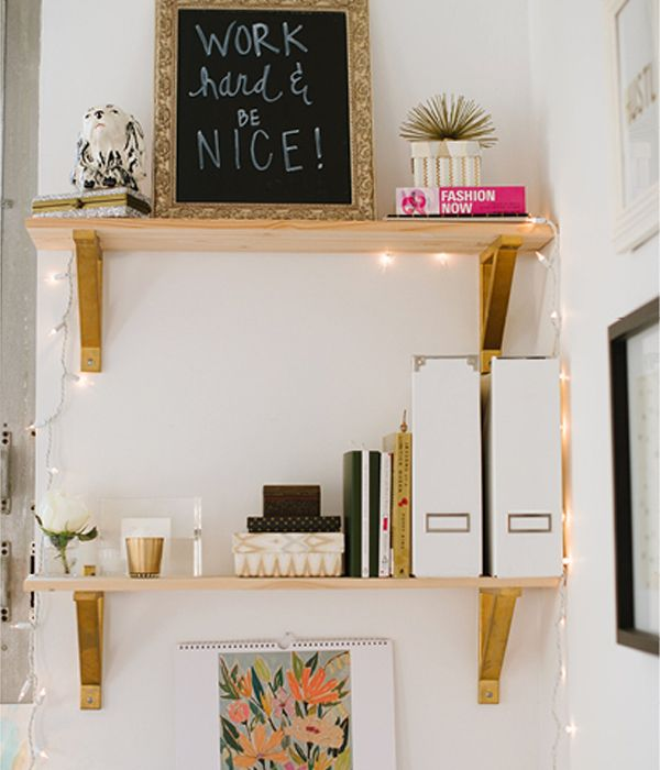 Caitlin Moran of Style Within Reach + Glitter Guide's sparkly workspace
