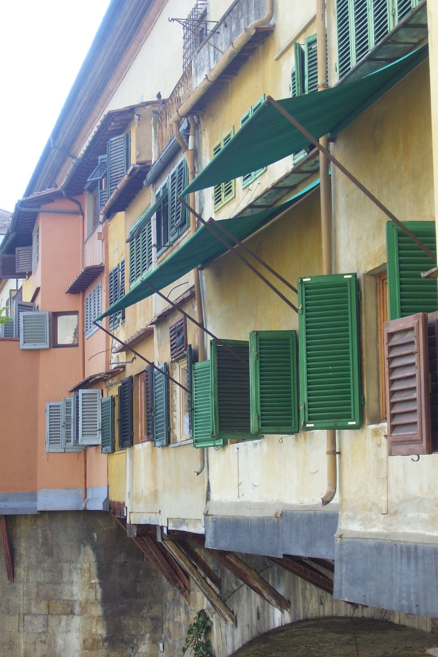 Shutters on the bridge - Italy