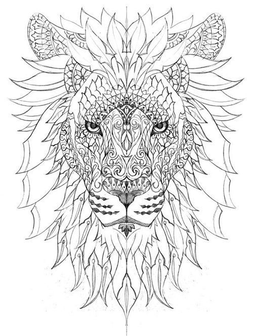 Most Popular Tags For This Image Include Lion Stress Relief Coloring Page