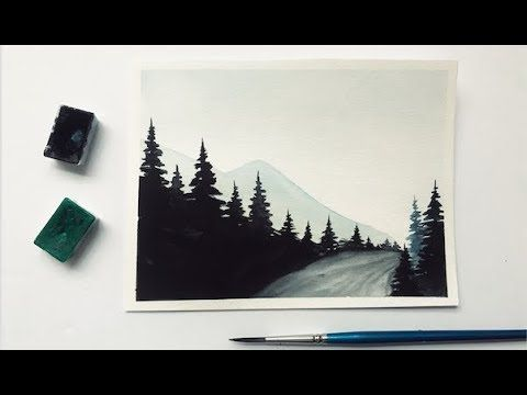 39 watercolor forest road painting demonstration youtube road painting forest painting painting demonstration 39 watercolor forest road painting