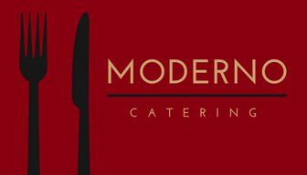 Red Utensils Moderno Catering Business Card Business Card Ideas In