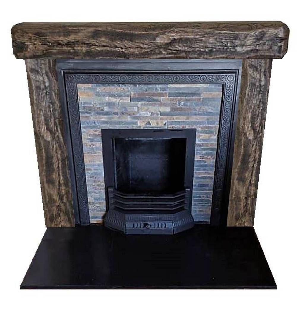 Made For Client Antique Tiled Frame Back Panel And Oak Beam Surround Oakbeams Fireplaces Homedesign Homedecor Fir Antique Tiles Antique Frames Fireplace