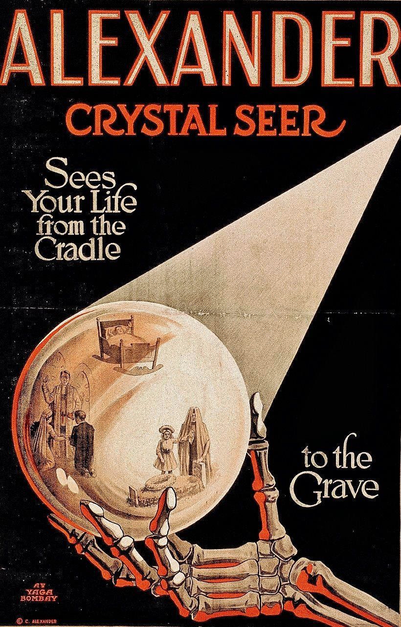 Vintage Magic Advertising Alexander the Crystal Seer ...