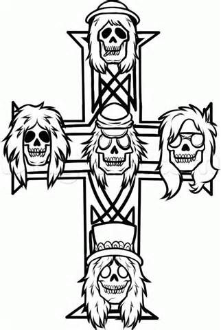 rock music logos coloring pages - photo#9