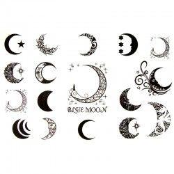 Tatouage Ephemere Lune Tattoos Tattoos Moon Tattoo Designs