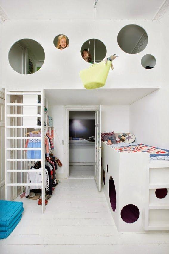 modern bunks mehr | kinder | pinterest | kind, klamotten und betten - Schlafzimmer Mit Spielbereich Eltern Kinder Interieur Idee Ruetemple