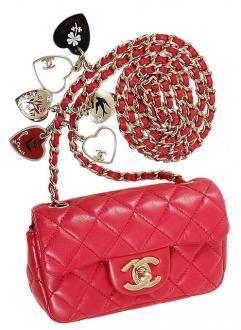 d4b911c6a09f Chanel Raspberry Pink Valentine Charm Classic Xs Mini Flap Bag | So ...