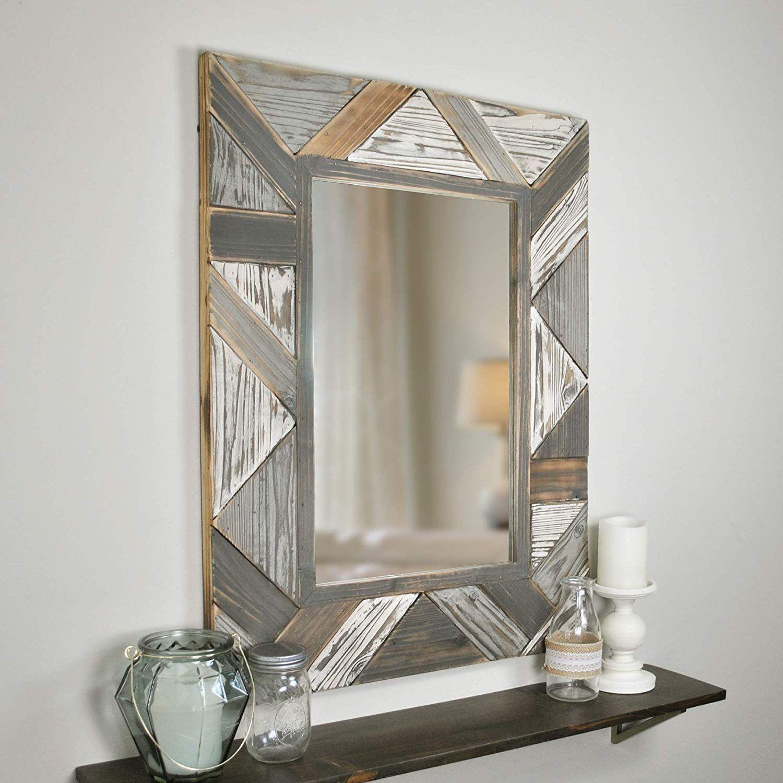 Farmhouse Mirrors Rustic Mirrors Farmhouse Goals Grey Wall Mirrors Frames On Wall Framed Mirror Wall