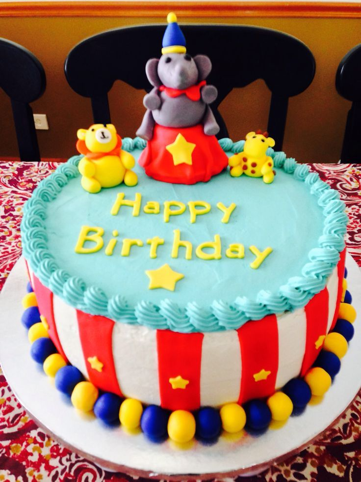 Circus Birthday Cake Circus ideas Pinterest Circus birthday