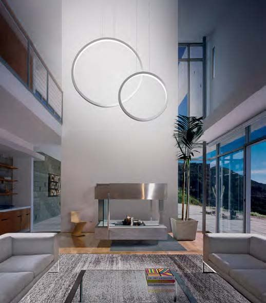 Ring LED Pendant by Orbit Illuminations. Also available in ceiling and wall luminaires.