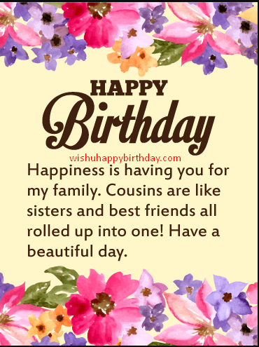 300 Unique Birthday Wishes For Cousin Brother 2019 With Images