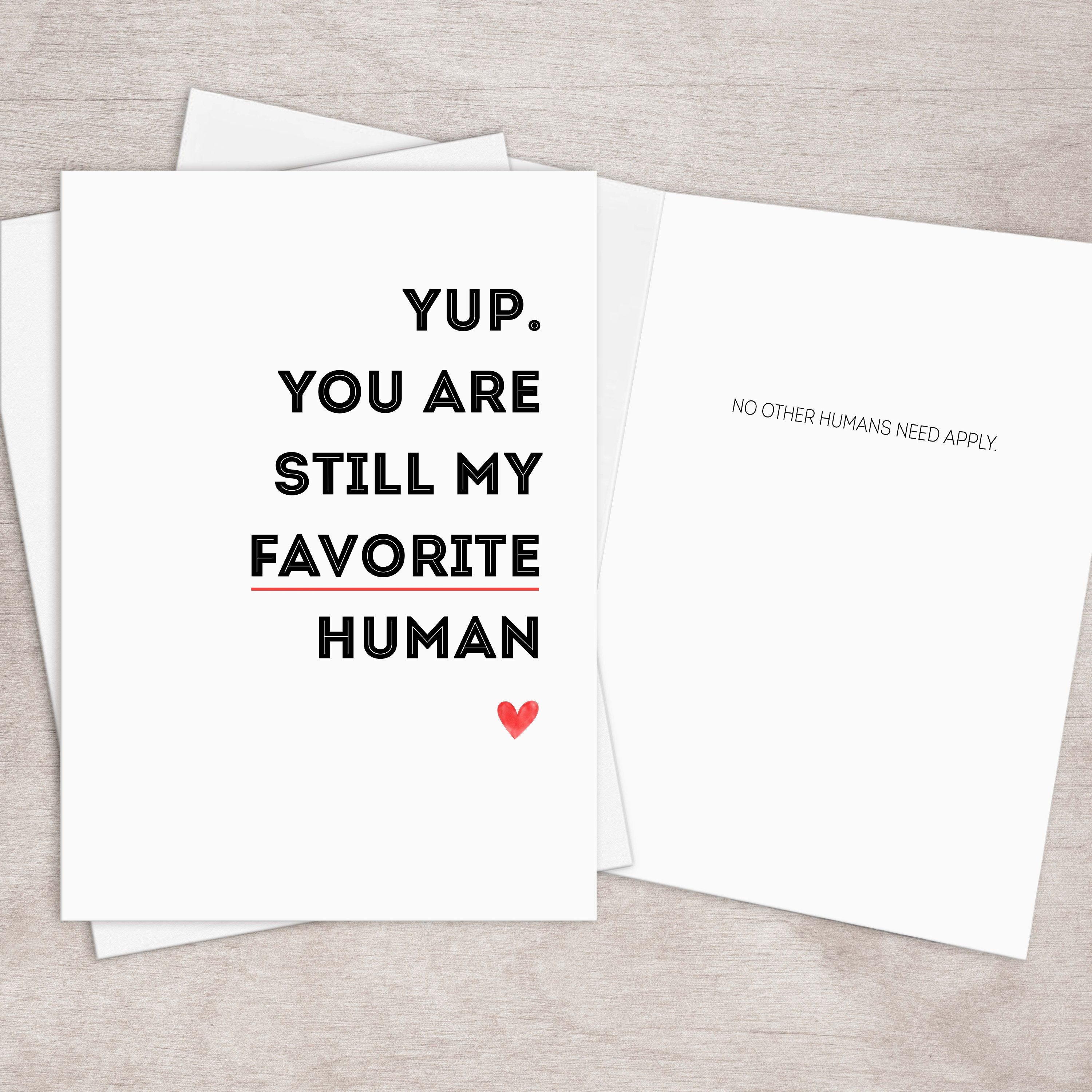 Printable Favorite Person Love Card For Him Boyfriend Husband Etsy In 2020 Love Cards For Him Love Cards Greeting Card Template