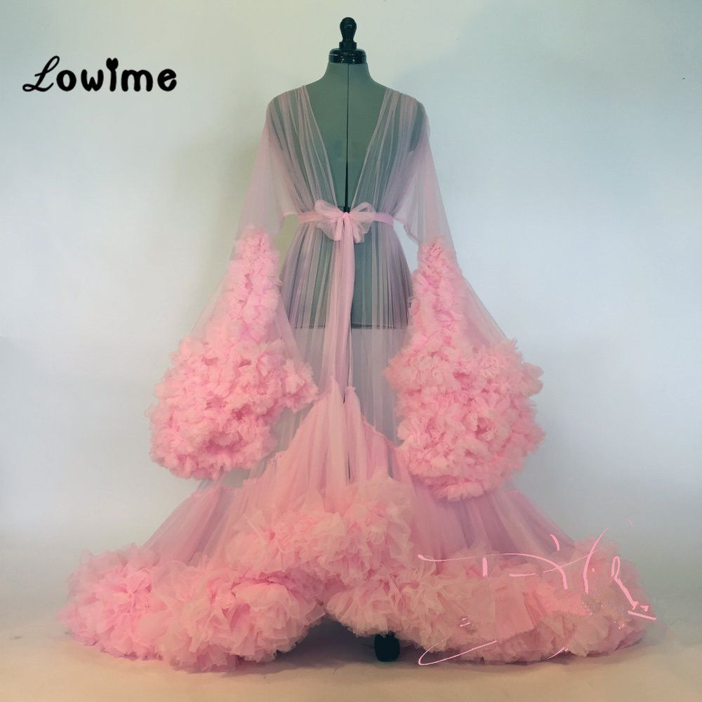Click to buy ucuc sexy muslim long sleeved pink evening dress robe