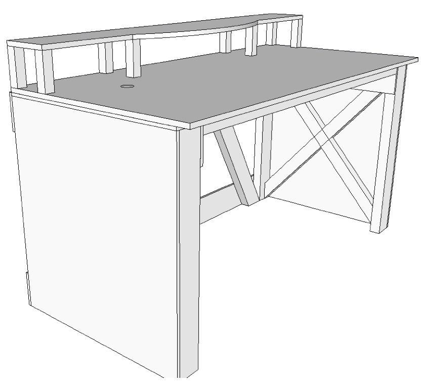 How to Make a Standing Desk and Music Workstation | Diy ...
