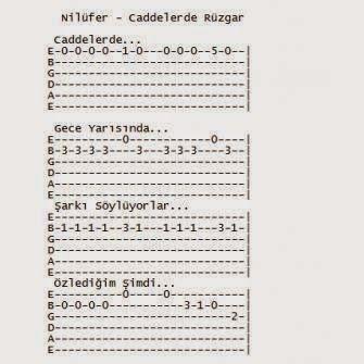 Nilufer Caddelerde Ruzgar Notalara Dokulmus Muzik Gitar