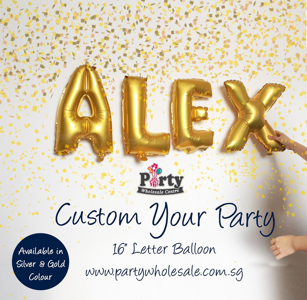 Letter Alphabet Balloons Singapore Wow Lets Party