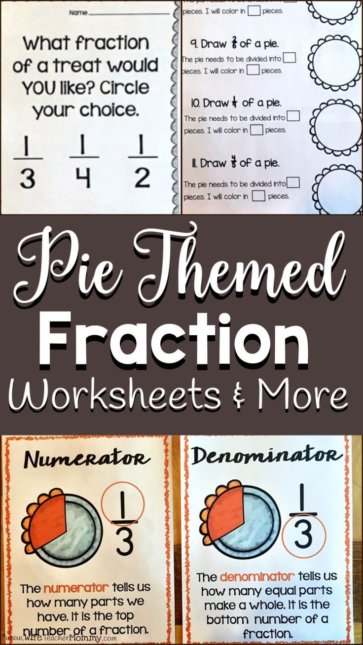 Thanksgiving Or Pi Day Pie Themed Fractions Worksheets Posters With These Engaging Pie Themed Fraction Wo Fractions Worksheets Substitute Teaching Fractions [ 1308 x 736 Pixel ]