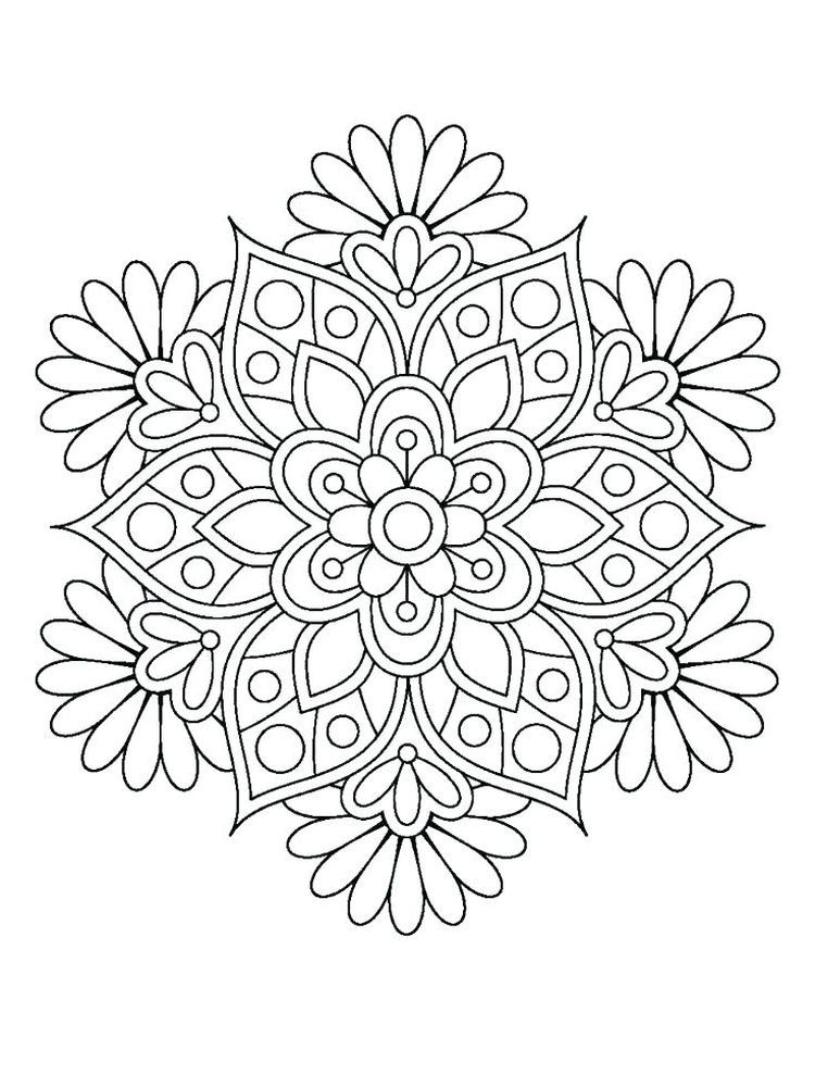 Flower Coloring Pages For Adults Printable Below Is A Collection Of Beautiful Flower Coloring P Mandala Coloring Mandala Coloring Pages Mandala Design Pattern