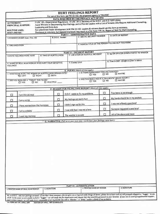 Butt hurt form funnies Pinterest - privacy act release form