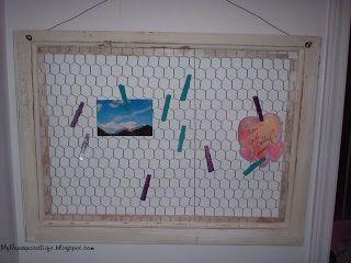 Chicken wire memo center - My Repurposed Life™