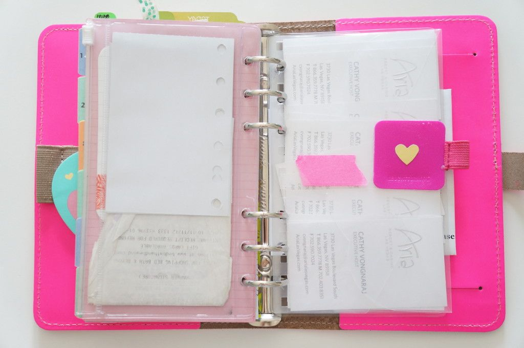 How I organize my Filofax
