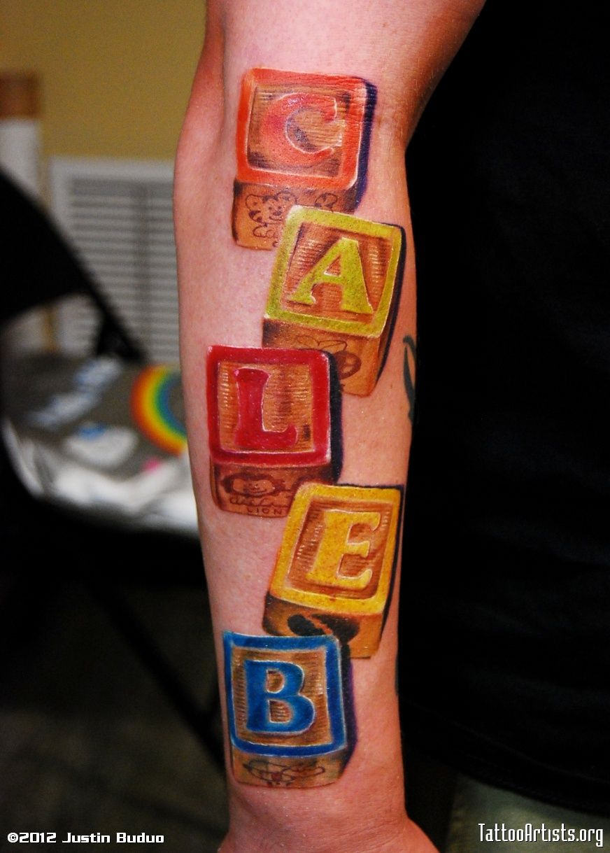 47+ Amazing Baby blocks tattoos pictures image HD
