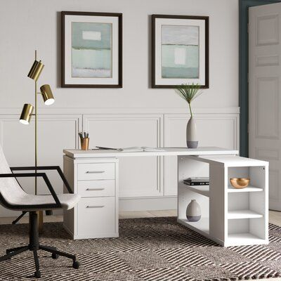 Mercury Row Senga Reversible L Shape Executive Desk Wayfair In 2020 L Shaped Executive Desk L Shaped Desk Executive Desk