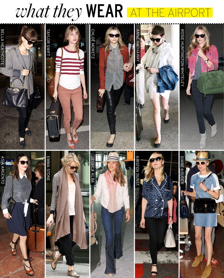 What They Wear Airports Celebrity Style And Fashion From Whowhatwear Style On The Fly