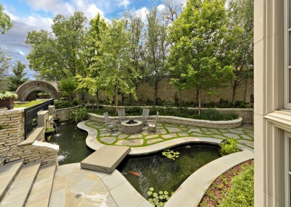 natural inspiration koi pond design ideas for a rich and tranquil home landscape - Koi Pond Designs Ideas