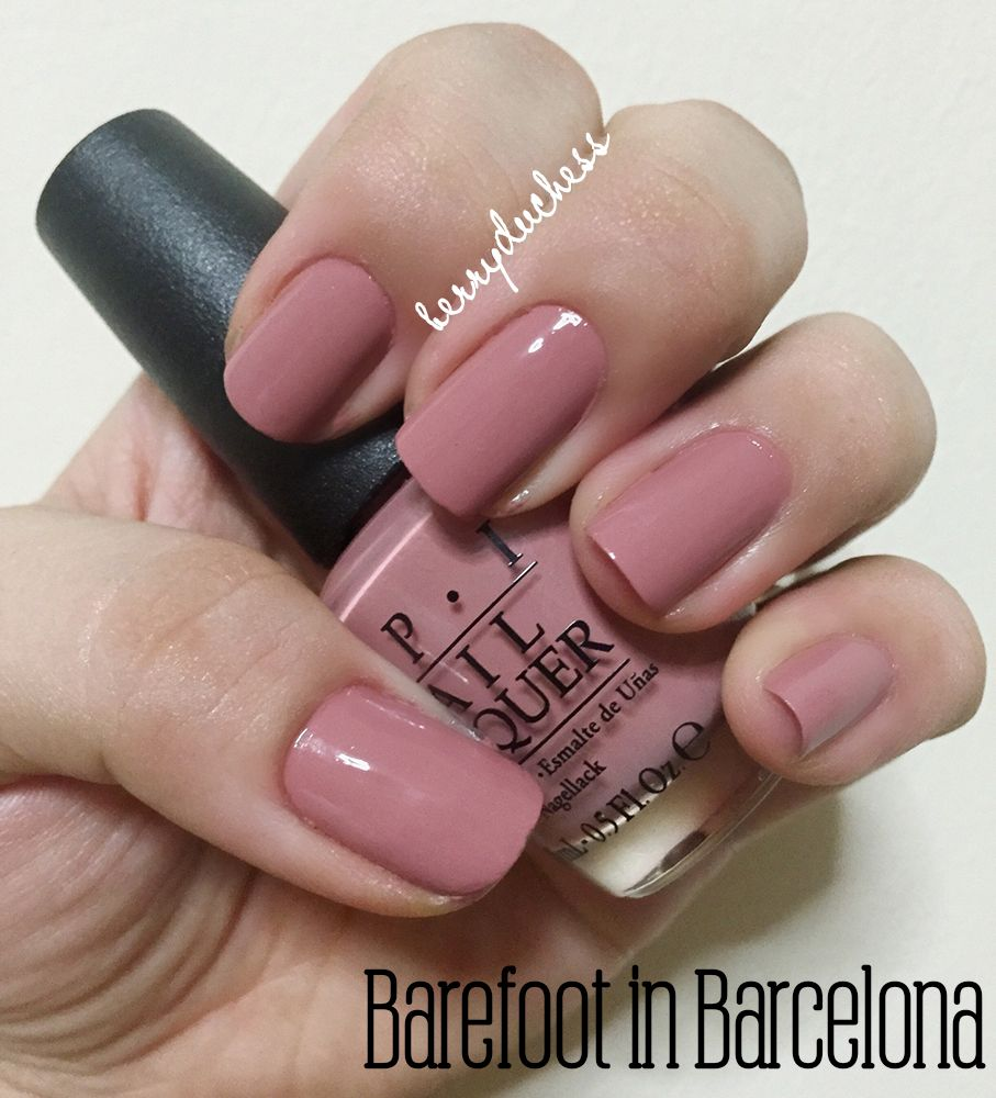 Chic Nail colors: OPI in barefoot-in-barcelona | Unhas | Pinterest ...