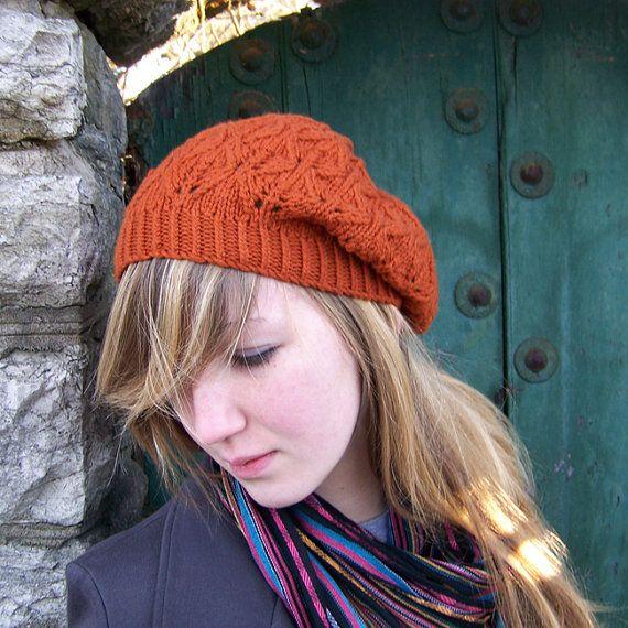 Knitting Pattern Knitted Beret Pattern Pdf Slouch By Apiaryknits