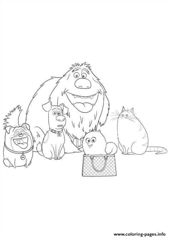 Print all the family together secret life of pets coloring pages