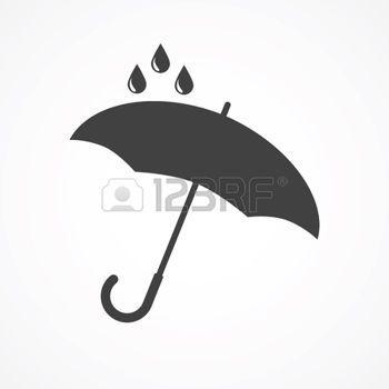 umbrella silhouette: Vector umbrella logo. Umbrella icon, umbrella and rain symbol, umbrella silhouette shape, umbrellas weather icon, umbrella interface element