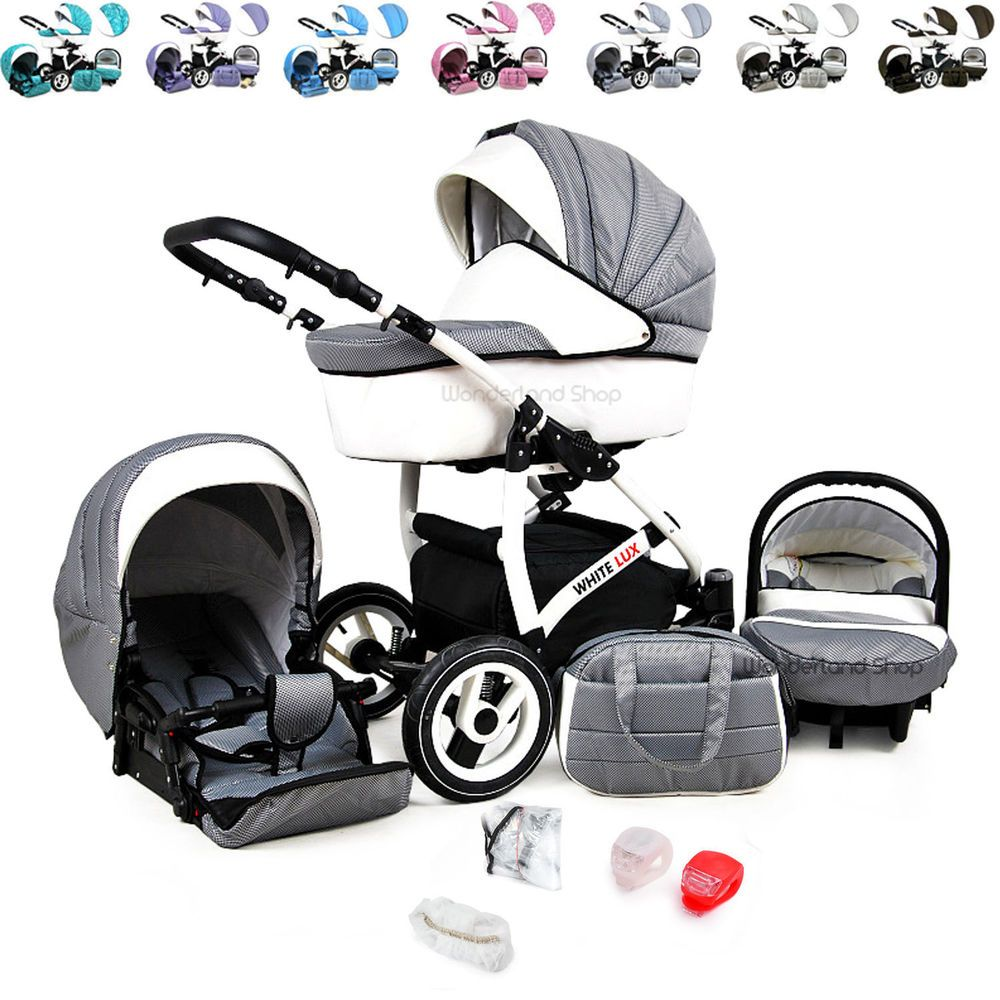 Baby Pram Stroller Pushchair + Car Seat Carrycot Buggy Travel System Details About Baby Pram Newborn Buggy 3 In 1 Car Seat