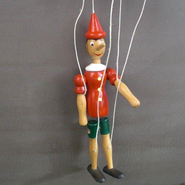 Marionnette en bois de Pinocchio