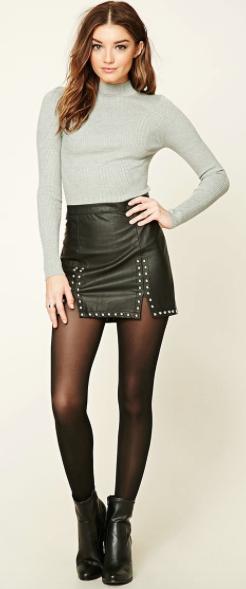 ae6bda27d Pin de Loli en faldas cuero | Faldas, Medias negras y Moda
