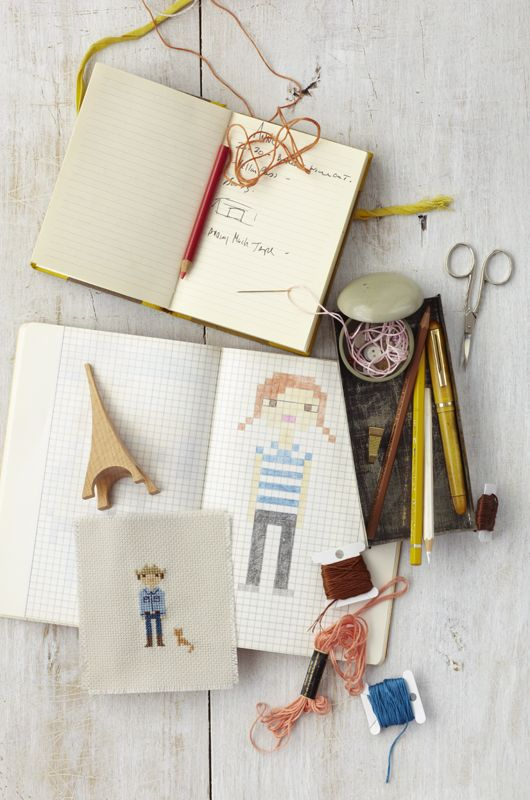 absolutely love this diy! #diy capture your family in cross-stiching