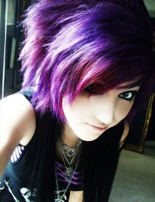 Emo Hairstyles For Thick Hair : Absolutely love her hair style and color! : hair pinterest