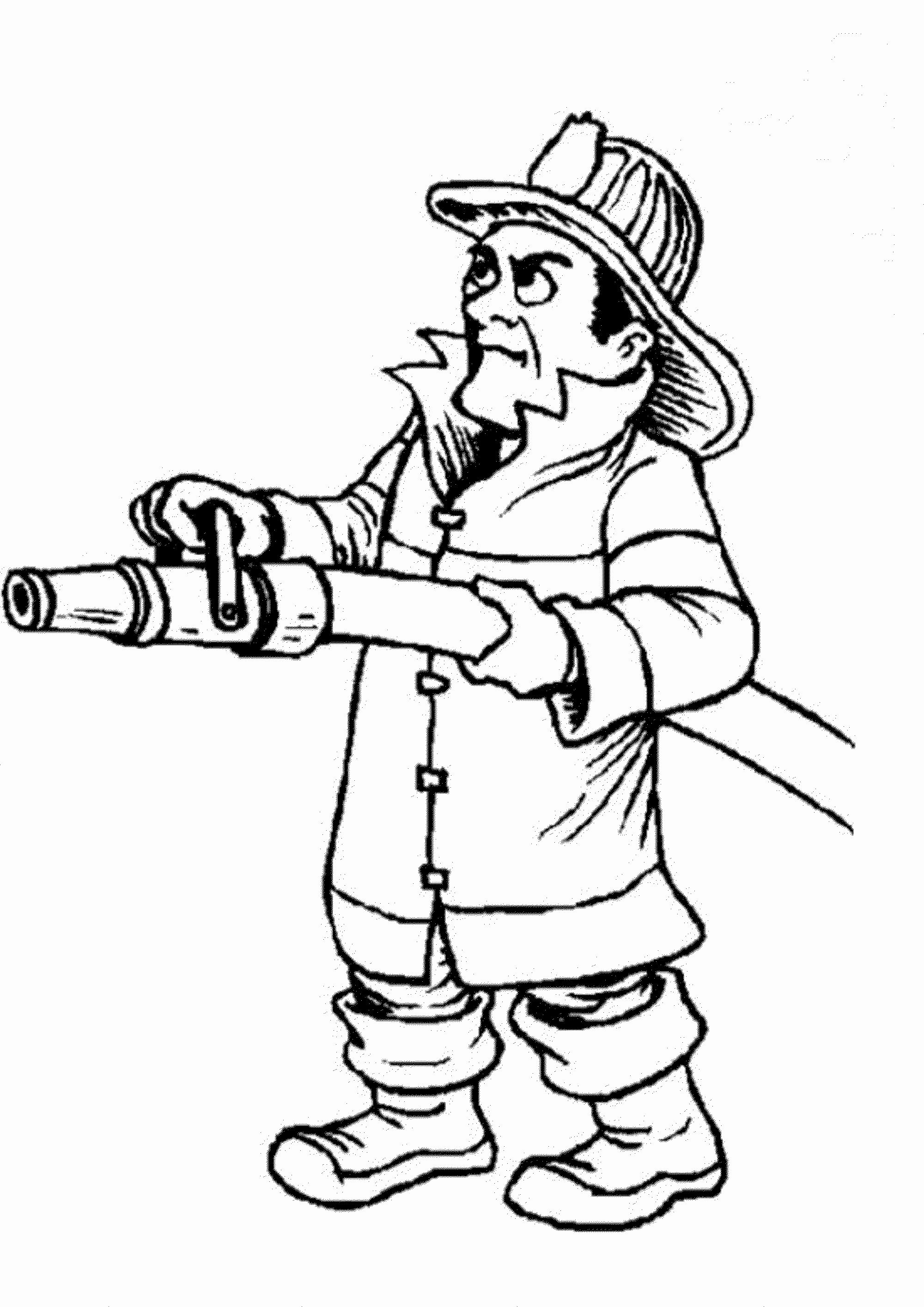 Fire Fighter Coloring Page Unique Print & Download ...