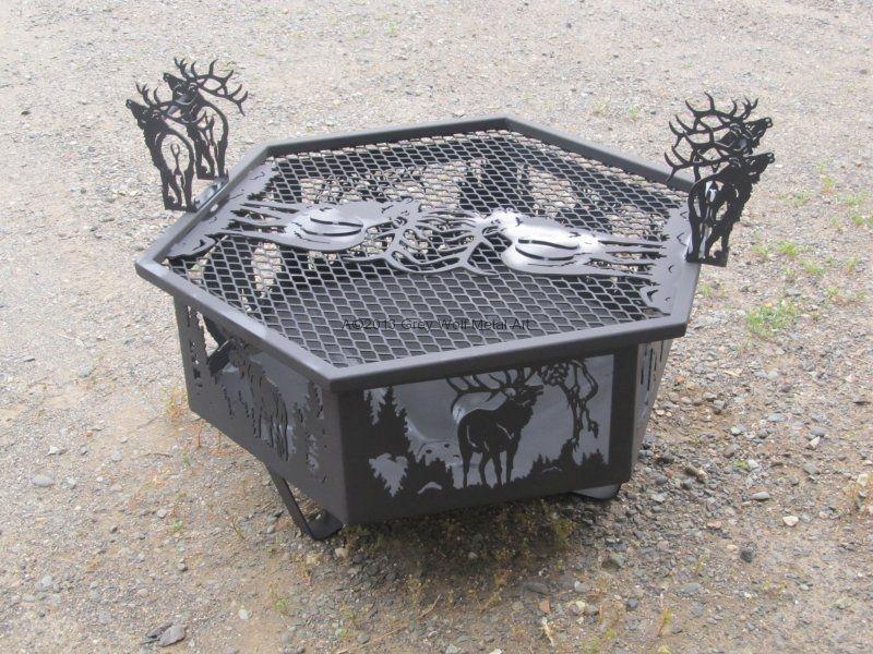 fire pits | grey wolf metal art metal fire pits Gorgeous ...