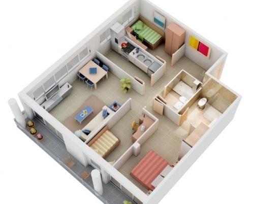 10 Ide Desain Rumah Minimalis 1 Lantai 3 Kamar Tidur Food And