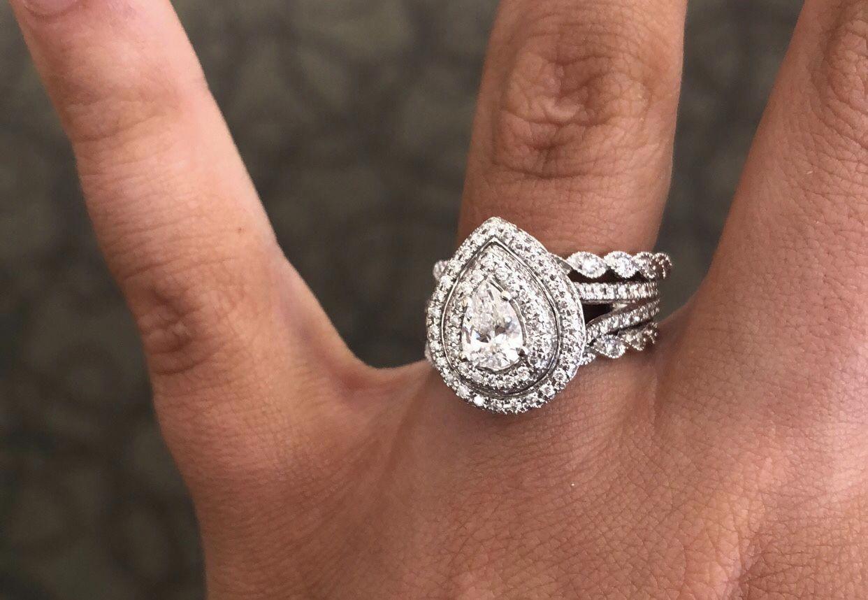 Fine moissanite engagement rings